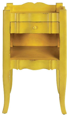 Emily Antique Yellow Side Table traditional-nightstands-and-bedside-tables