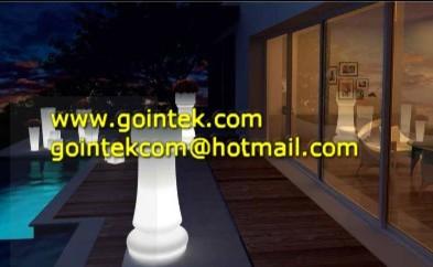 Round Shape Led Table Light modern-bar-tables