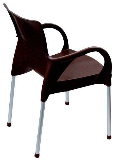 Euromobilia Beverly Chair in Brown (Set of 4) traditional-chairs