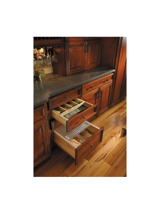 Getting Organized with Fieldstone Cabinetry - Cabinet base with cutlery drawer and bread drawer
