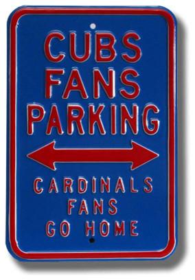 Chicago Cubs Cardinals Go Home MLB Parking Sign modern-home-decor