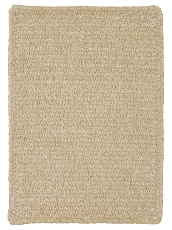 Chenille Creations rug in Latte - Create a comfy, cozy, and custom-made braided rug with Capel's Chenille Creations.  Strands of plush, all-natural, ultra soft cotton chenille weave together to create a soft and vibrant room accent.