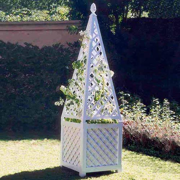 Wooden Garden Obelisk Planter