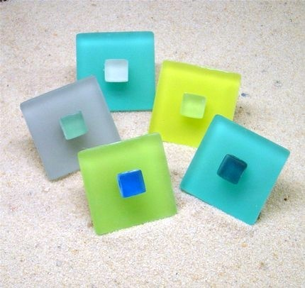 Beach Glass Pull Knob & Hook Hardware - Tropical - Cabinet And Drawer Knobs - other metro - by ...