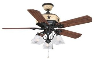 Indoor Ceiling Fans: Hampton Bay Lonestar 52 in. Aged Copper and White Rock Ceil - Contemporary ...