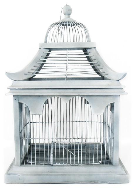Blue Bird Cage Mediterranean Home Decor New York