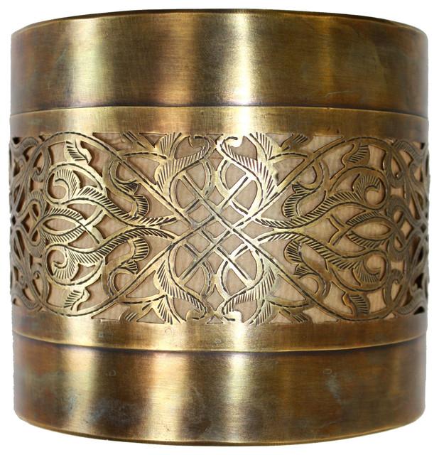 Brass Half Cylinder Wall Sconce, 6.25