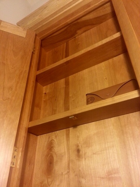 Cherry Wall Cabinet with Secret Compartment - Traditional ...