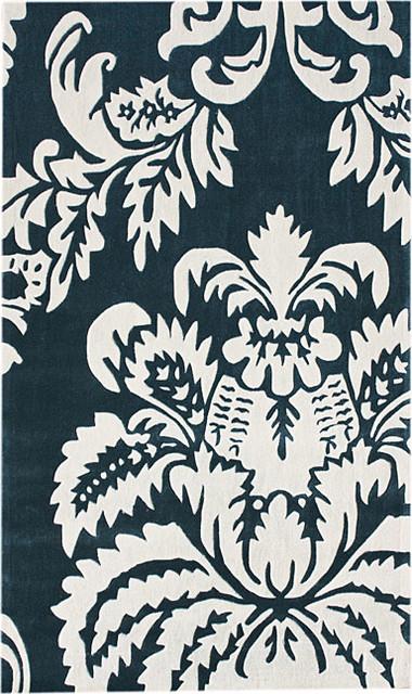 Handmade Alexa Pino Damask Rug contemporary-rugs