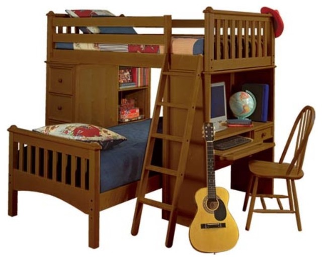 Mission SSS Twin Loft Bed - Traditional - Kids Beds - by Hayneedle