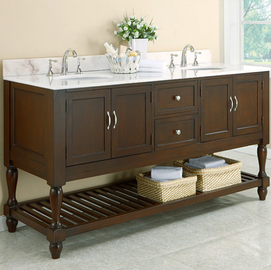 An Introduction To Open Shelf Bathroom Vanities Traditional Bathroom Vani