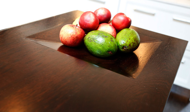 Integrated Fruit Bowl In Wenge Wood Countertop Design By