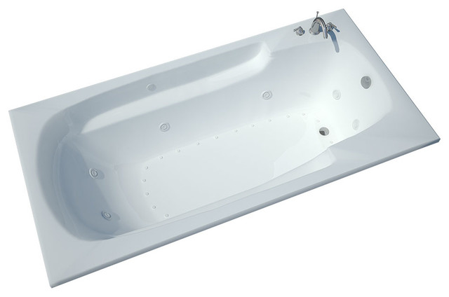 Atlantis Tubs 4272EDR Eros 42x72x23 Inch Whirlpool Jetted Bathtub traditional-bathtubs