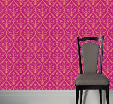 Hick's Moghul 60 Wallpaper modern-wallpaper