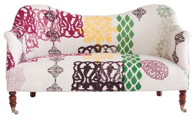John Robshaw Dromedary Love Seat eclectic-love-seats