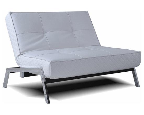 Abbyson Living - Abbyson Living Venice White Convertible Euro Chair Lounger -