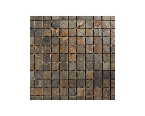 "1""x1"" Slate Multicolor Natural Stone Mosaic -"