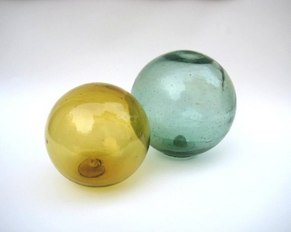 Large Vintage Glass Fishing Floats By Uncommon Eye contemporary accessories and decor