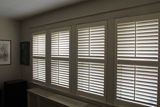 '40s Chicago Bungalow Plantation Shutters - Craftsman - chicago - by Skyline Window Coverings ...