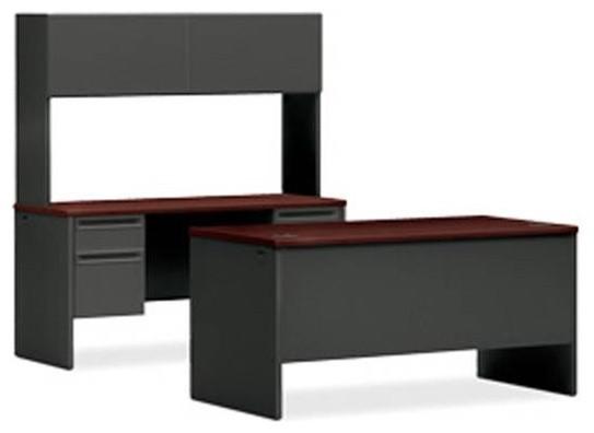 "HON 38000 Executive Workstation | Desk, Credenza, Hutch | 60""W - Contemporary - Desks And ..."