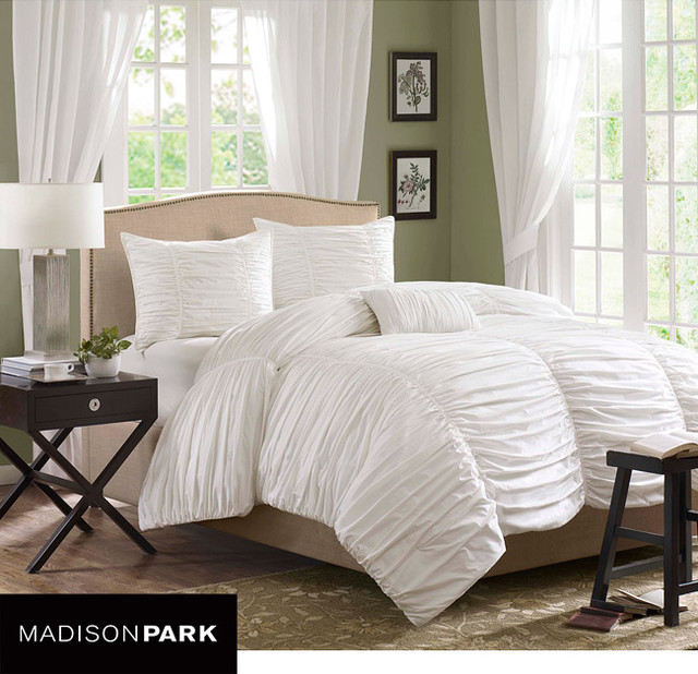 Madison Park Catalina 4-piece Comforter Set contemporary-duvet-covers