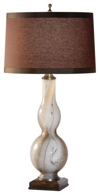 Murray Feiss 9960MGL Woodrow 1 Bulb Marbelized Glass Lamp transitional-table-lamps