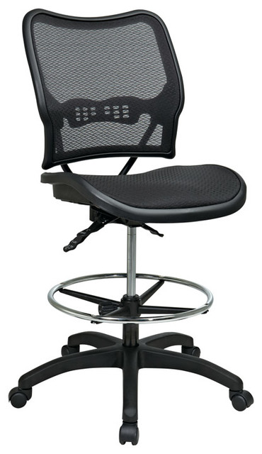 Space Seating 13 Series Deluxe Ergonomic AirGrid Seat and Back Drafting Chair traditional-home-office-products