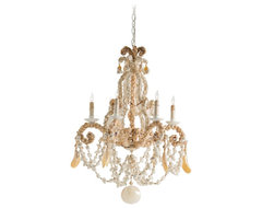 Coastal Arteriors Home Strasbourg Seashell Chandelier traditional chandeliers