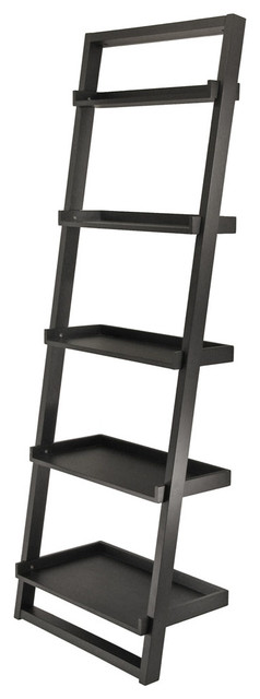 Bailey Leaning Shelf 5-Tier contemporary-bookcases