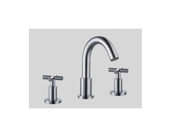 Dawn 3-Hole Widespread Lavatory Faucet with Cross Handless AB03 1513 - Solid brass construction