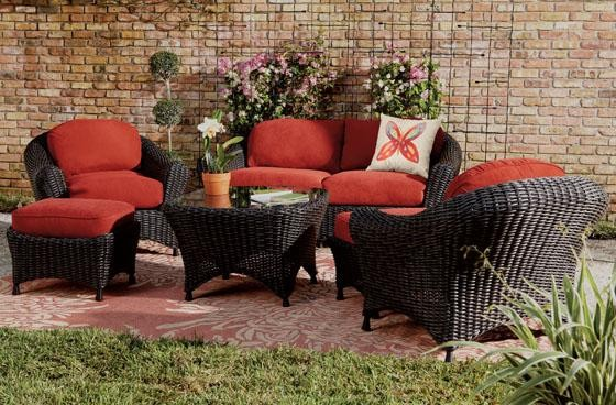 Martha Stewart Living™ Lake Adela Six-Piece Seating Set contemporary patio furniture and outdoor furniture