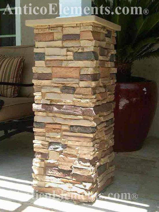 Faux stone columns post wraps column wraps for Wrap around porch columns