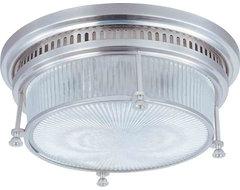 Maxim Lighting 25000CLSN Hi-Bay Satin Nickel Flush Mount farmhouse-ceiling-lighting