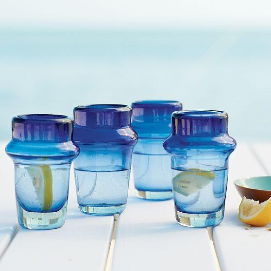 Mediterranean Blue Glassware mediterranean-everyday-glasses