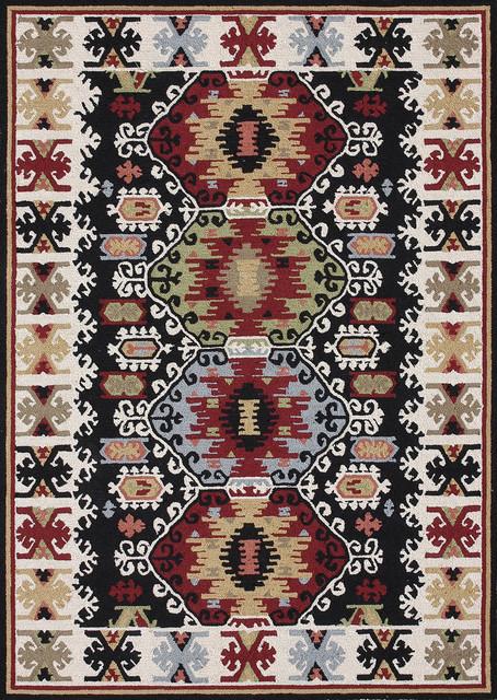 "Taos TO-01 7'6"" x 9'6"" Black Rug contemporary-rugs"