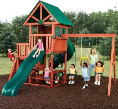 Swing-N-Slide Southampton Wood Swing Set modern-kids-playsets-and-swing-sets