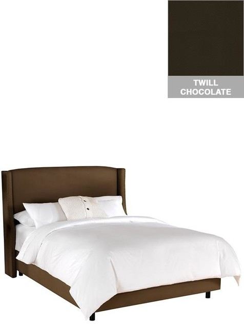 Custom Covington Upholstered Bed Traditional Beds By Home Decorators Collection