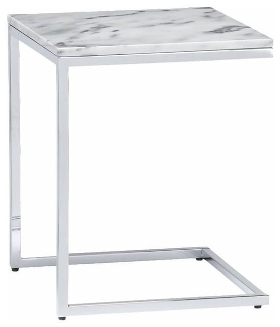 Marble Top C Table CB2 - Contemporary - Side Tables And End Tables - by CB2