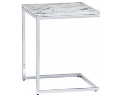 Marble Top C Table CB2 contemporary-side-tables-and-accent-tables
