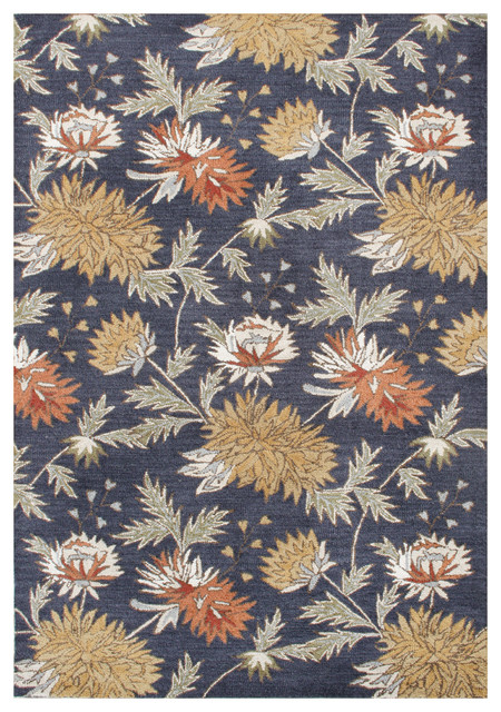 Orion Blue Transitional Rug Transitional Area Rugs