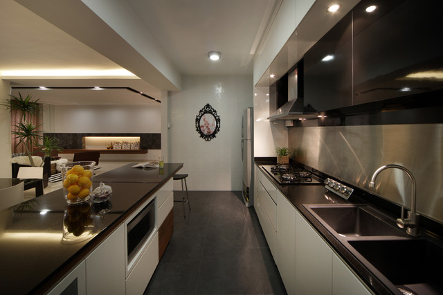 Modern Apartment in Singapore with a Clean Design - Modern - Kitchen - other metro - by Max T