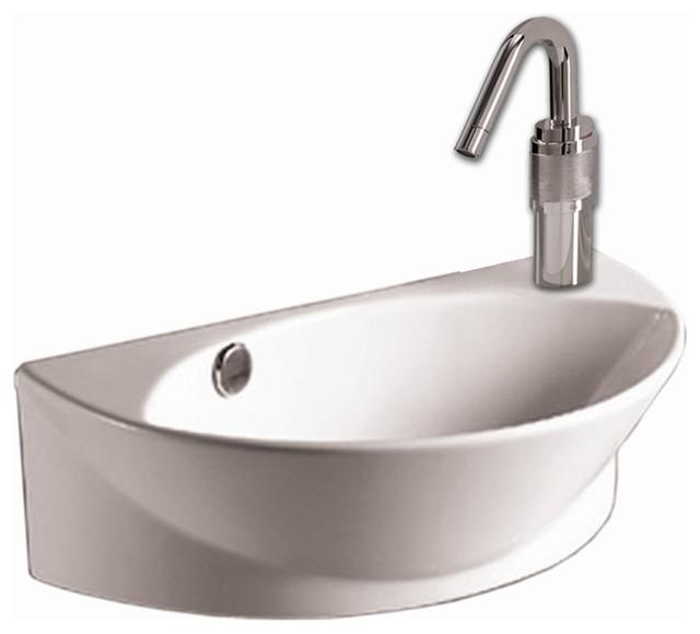 Isabella Half Oval Wall Mount Sink W Overflow