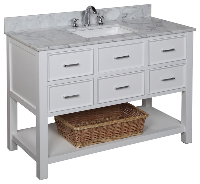 Perfect Corso Single 30Inch Transitional Bathroom Vanity