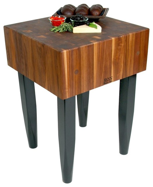 Kitchen Square Block Table contemporary-kitchen-islands-and-kitchen-carts