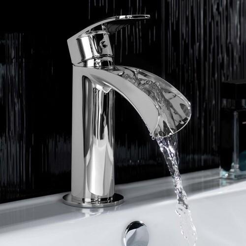 Modern Reign Open Spout Bathroom Faucet Mixer Single Hole Chrome Mono Basin