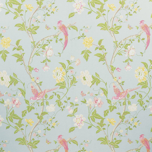 Summer Palace Wallpaper Duck Egg Traditional