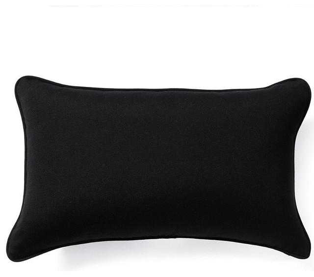Outdoor Outdoor Lumbar Pillow in Sunbrella Black - 24