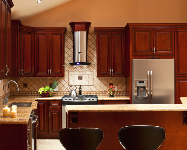 Cherry Hill - Cherry Collection - RTA All Wood Kitchen Cabinets - Traditional - Kitchen ...