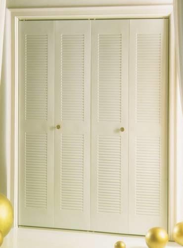 24X80 2 Panel Full Louver Bifold Door - Asian - Front Doors - by BuilderDepot, Inc.