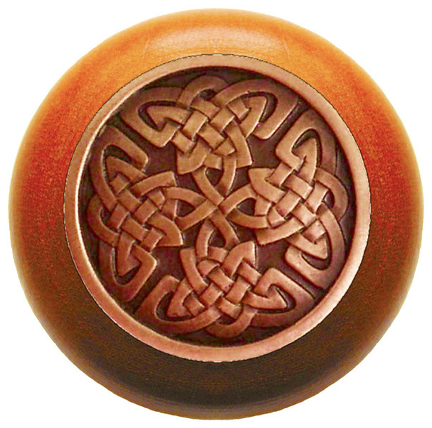 Celtic Isles Cherry Wood Knob (antique copper) - Traditional - Cabinet And Drawer Knobs - by ...
